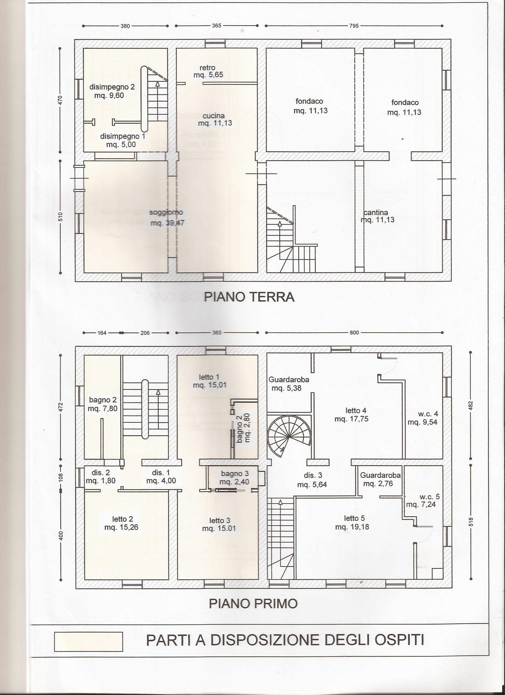 Ground & First Floors (Size per floor)