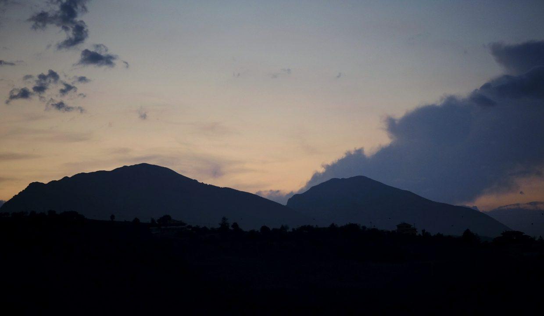 Sunset over Monti Gemelli